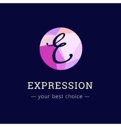 polygonal style elegant E letter logo vector image
