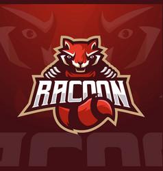 Raccoon esports vector