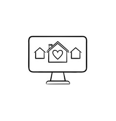 real estate website hand drawn outline doodle icon vector image
