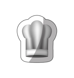 Realistic silhouette sticker of large chefs hat vector