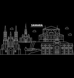 samara silhouette skyline russia - samara vector image