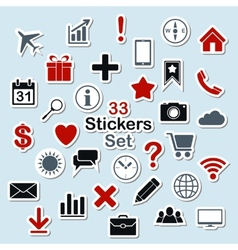 Set of icon stickers for mobile app and web vector image