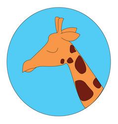 Sleeping giraffe on white background vector