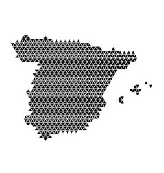 Spain map abstract schematic from black triangles vector