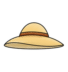 summer hat isolated icon vector image