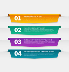tabbed labels color infographic banners leaflet vector image