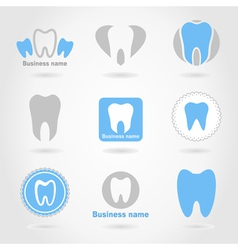 Tooth an icon vector image