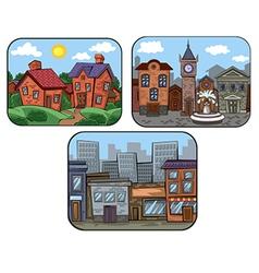 Town scenes vector
