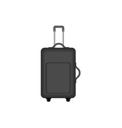 Travel suitcase in black design vector