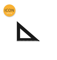 triangle ruler icon isolated flat style vector image