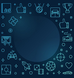 video games colorful linear frame - gamer vector image