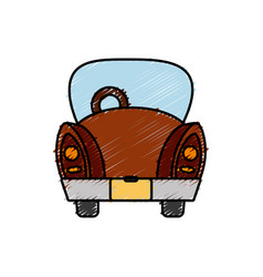 Vintage car icon vector