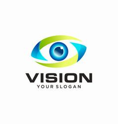 Vision logo design template vector