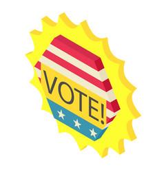 vote icon isometric 3d style vector image