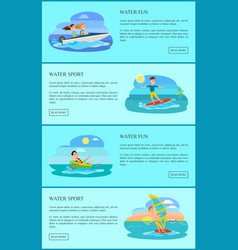 water fun activity collection vector image