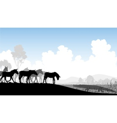 Watering hole vector image