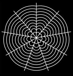 White spider on background vector