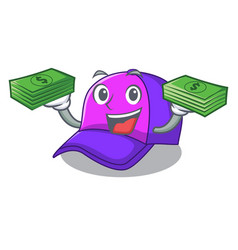 with money cap character in the shape funny vector image