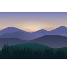 With Panorama Mountains view vector