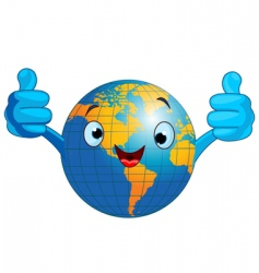 world globe character vector image