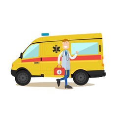 ambulance staff concept in vector image vector image