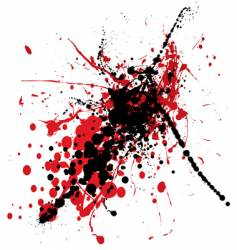 blood splat with black vector image vector image