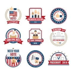 Presidential Election Labels vector image