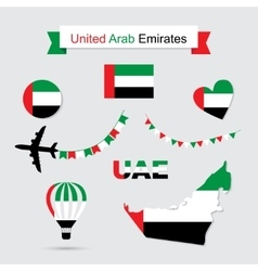 United Arab Emirates symbols vector image