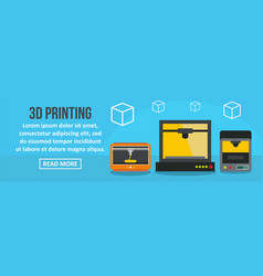 3d printing banner horizontal concept vector image