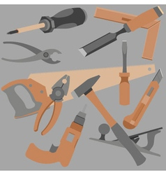 abstraction drawn a variety of objects and tools vector image