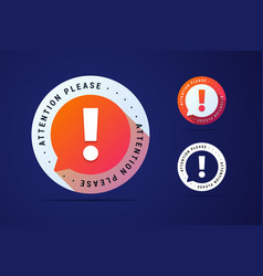 attention please sign with bubble vector image
