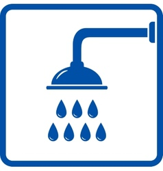 icon with shower head vector image