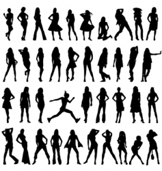 set of fashion women vector image vector image