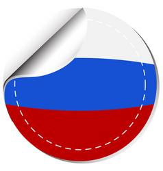 Sticker design for russia flag vector