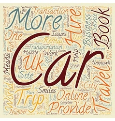 Car Hire UK Cheap Car Hire UK Car Hire Group text vector image vector image
