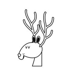 Christmas reindeer horns celebration festive vector