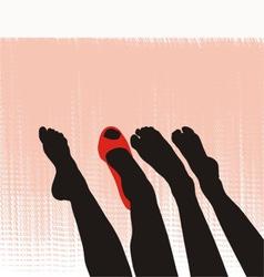 Female feet vector image