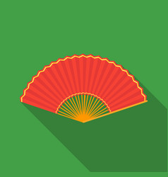 Folding fan icon in flate style isolated on white vector