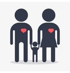 happy family icon vector image vector image