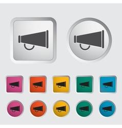 Horn single icon vector