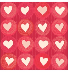 Love Heart Pattern vector image vector image
