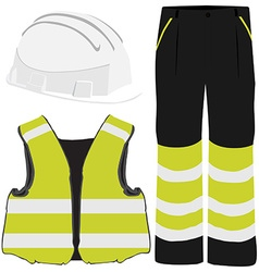 Safety clothing vector image vector image