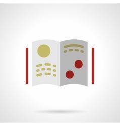 Scientific literature flat color icon vector image vector image