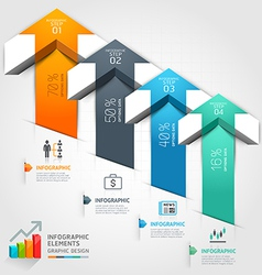 3d arrow business infographics vector image vector image