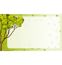 Border frame with nature theme vector image vector image