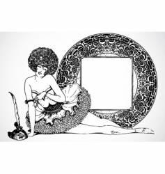 burlesque frame vector image vector image