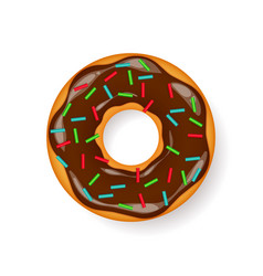 donut begel with cream cookiescookie cake vector image vector image