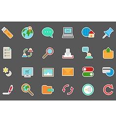 Internet stickers set vector image vector image