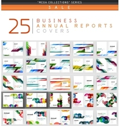 Mega collection of 25 business annual reports vector image vector image