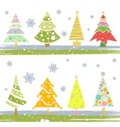 pine tree set vector image vector image